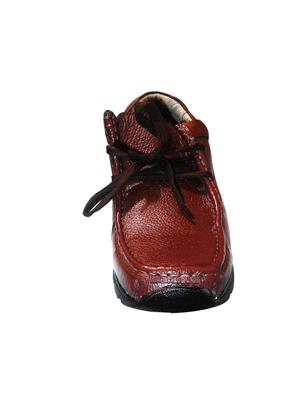Zikrak Exim ZESH24 Brown Genuine Leather Stylish Casual Shoes