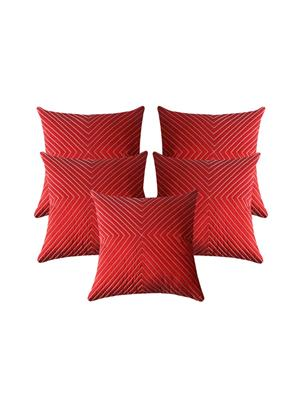 ZIKRAK EXIM ZESMLC1039 Verticle Thread Red 30X30 Cms-5 Pcs Set
