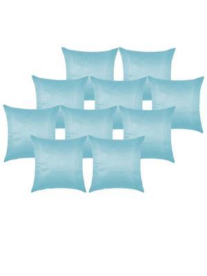 ZIKRAK EXIM ZESMLL10 Plain Sky Blue Cushion Cover 30X30 Cms (Pack Of 10)