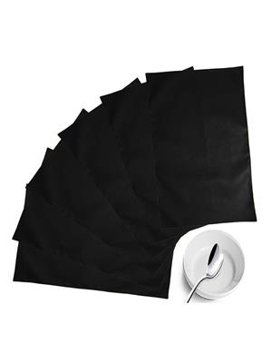 ZIKRAK EXIM ZETM12 LEATHER BLACK PLACE MAT 6 PCS SET