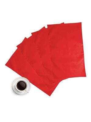 ZIKRAK EXIM ZETM23 LEATHER RED PLACE MAT 4 PCS SET