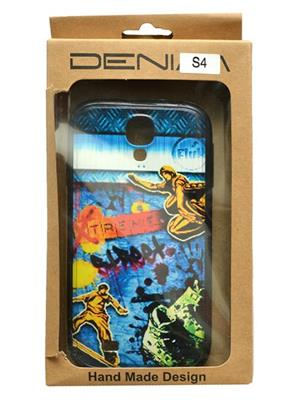 Denim D24 Blue  Print Galaxy  S 4  Mobile Case Cover