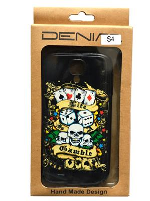 Denim D24 Black  Print Galaxy  S 4  Mobile Case Cover