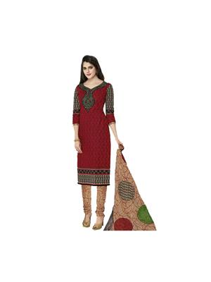 GownMart GM-919 Red Womens Dress Material