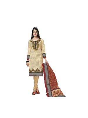 GownMart GM-906 Brown Womens Dress Material