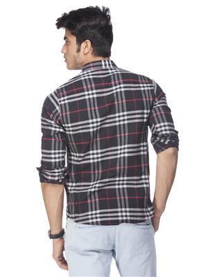 Spykar  S14-20 Black Mens Casual Shirt