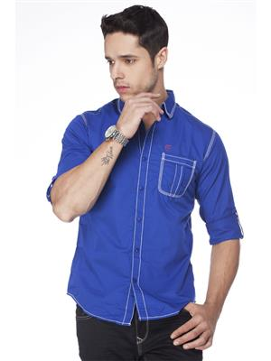 Spykar  S14-06 Blue  Mens Casual Shirt