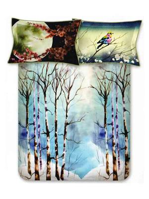 BOMBAY DYEING 9663 Blue Double BedSheet