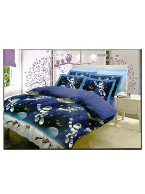 BOMBAY DYEING 7151 Blue Double BedSheet