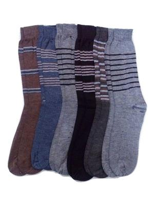 Fablook Ac110012 Multicolored Men Socks Set Of 6