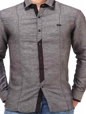 Apris S2927 Grey Men Casual Shirt