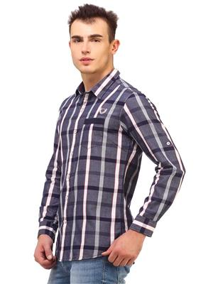 Apris S2909 Blue Men Casual Shirt