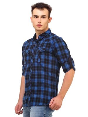 Apris S2914 Blue Men Casual Shirt