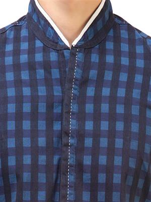 Apris S2919 Men Blue Casual Shirt