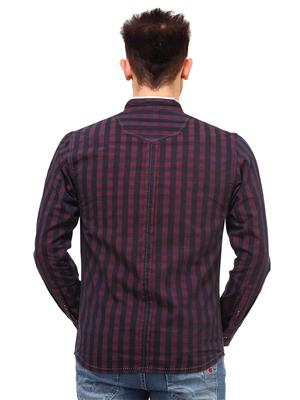 Apris S2919 Maroon Men Casual Shirt