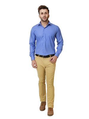 Austin-M austin-m-fs-010 Blue Men Formal Shirt