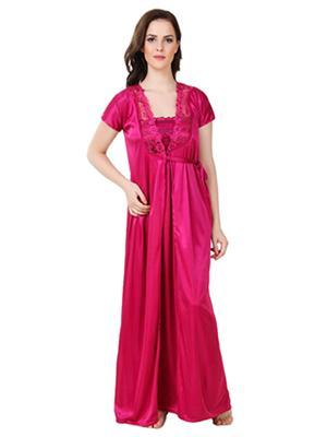 Austin-W  mg-2050 Pink Women Night Wear Set Of 2