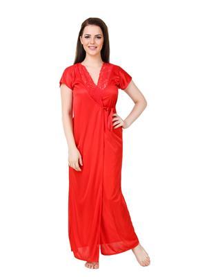 Austin-W  rd-2072 Red Women Night Wear Set Of 2