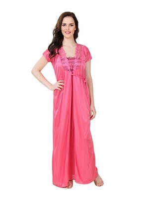 Austin-W  rs-2050 Pink Women Night Wear Set Of 2