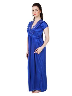 Austin-W  bl-3074 Blue Women Night Wear Set Of 3