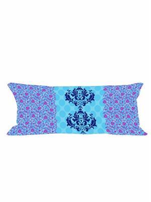 Decorize b2 Blue  Printed Cushion