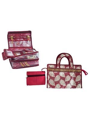 Bahurani Boutique BBDVB001 Multi Color Women Vanity Box Combo Pack