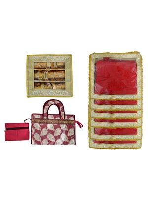 Bahurani Boutique BBJBB002 Multi Color Women Vanity Box Combo Pack