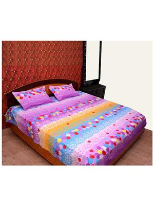 Jazz Bed05 Multicolored Double Bedsheet With 2 Pillow Covers