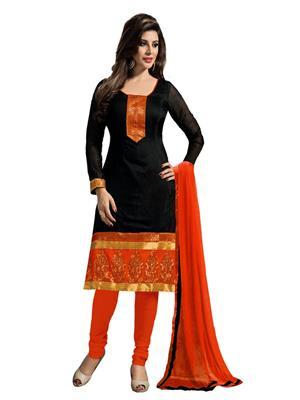 SHS Bhagat Blk Black Women Salwar Suit