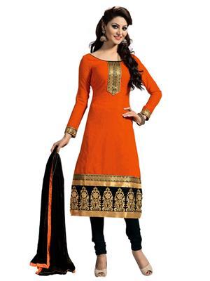 SHS Bhagat Org Orange Women Salwar Suit