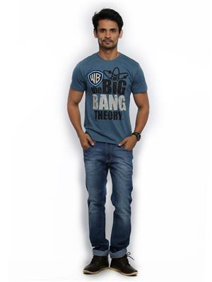The Big Bang Theory BI1CMT266 Blue Men T-Shirt