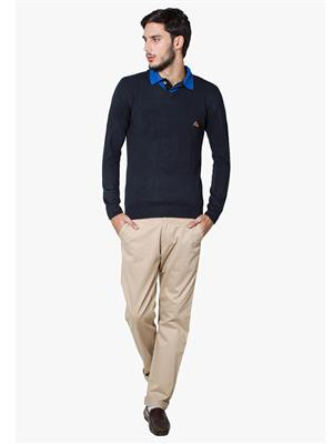 Lee Marc  Blue Formal Men Sweater