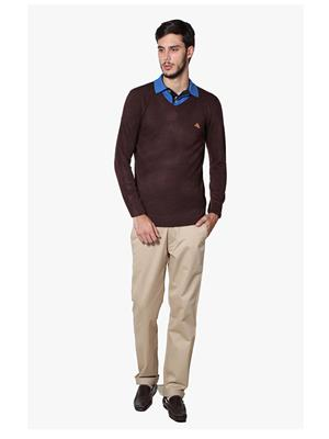 Lee Marc  Brown Formal Men Sweater