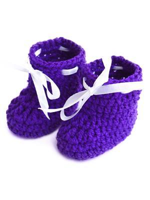 Love Crochet Art Bsb Blue Booties