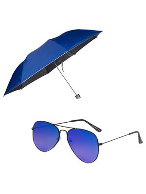 Mango people roy4 Navy Blue Umbrella With Sunglasses