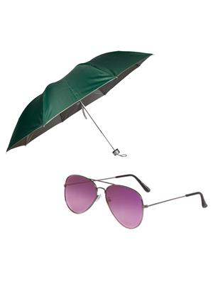 Mango people roy6 Green Umbrella With Sunglasses