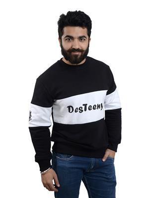 Desteeny Designs Dd-7 White-Black Men Sweatshirt