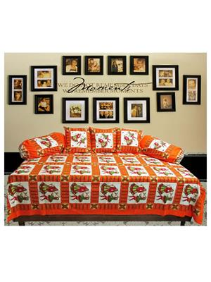 Mable ddiwanset08 Multicolored Deevan Set With 3 Cusion And 2 Comforter Covers