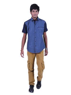 Restyle Des-4648 Blue Men Casual Shirt