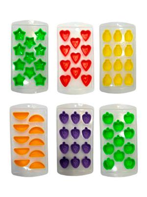 Platex dfdfh Multicolor Ice Cube Tray Set Pack of 6