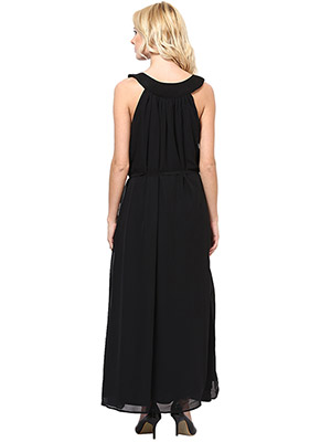 Rose Vanessa RS 049 Net H&M Long Black Dress