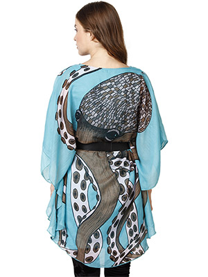 Rose Vanessa RS 084 Octopus Kaftan Blue Dress