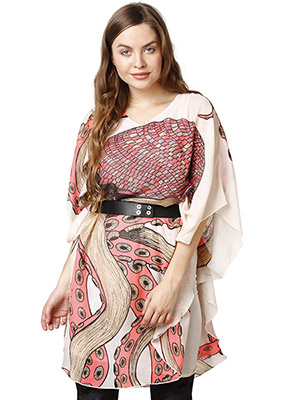 Rose Vanessa RS 085 Octopus Kaftan Pink Dress