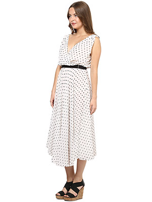 Rose Vanessa RS 092 Cross Marlyn Flare White Dress