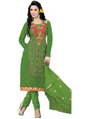 Sanika Fabrics g2 Green Women Dress Material