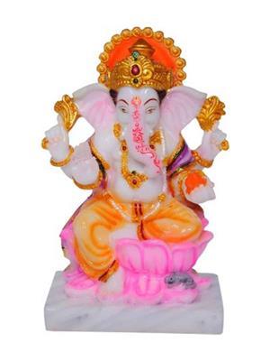 Décor g4 White Ganesh Idols
