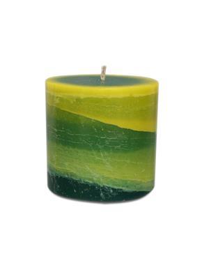 Pride & Joy  Green & Dark Green Scented- Lemon Grass  Candle