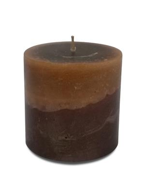 Pride & Joy  Dark Brown & Light Brown Scented- Chocolate  Candle