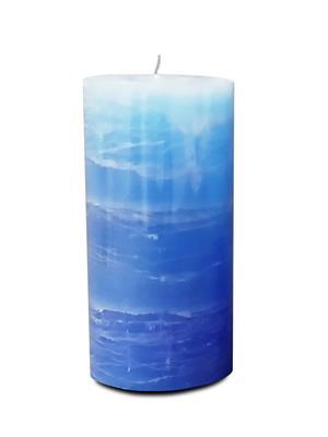 Pride & Joy Rustic Triple Tone- Blue  Candle