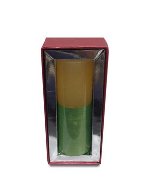 Pride & Joy White & Green Textured Scented - Sandalwood Candle